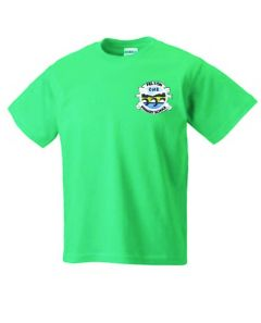 Emerald PE T-Shirt - Embroidered with Felton CofE Primary School logo