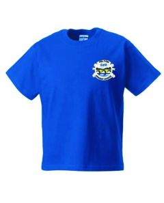 Royal PE T-Shirt - Embroidered with Felton CofE Primary School logo