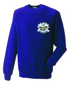 Purple Sweatshirt - Embroidered with Felton CofE Primary School logo