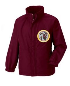 Burgundy Reversible School Jacket - Embroidered with Fordley Primary School Logo