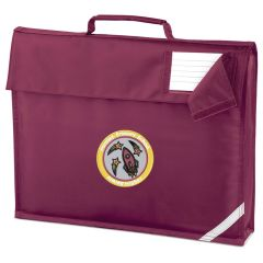 Burgundy Book Bag - Embroidered with Fordley Primary School Logo