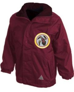 Burgundy Stormproof Coat - Embroidered with Fordley Primary School Logo