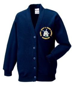 Navy SweatCardigan - Embroidered with Fulwell Junior School Logo