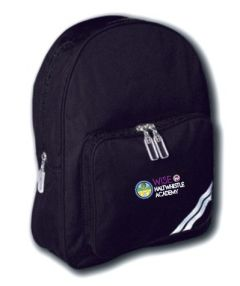 Navy School Backpack - Embroidered with Haltwhistle Academy logo