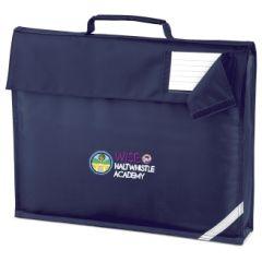 Navy Bookbag - Embroidered with Haltwhistle Academy logo