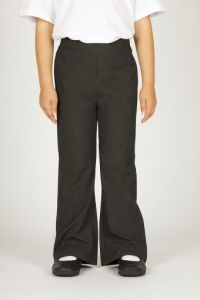 Grey Juniors Girls Straight Leg Trousers