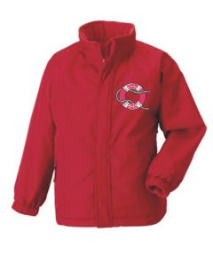 Red Reversible School Jacket - Embroidered with Marine Park First School Logo