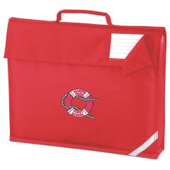 Red Book Bag - Embroidered with Marine Park First School Logo