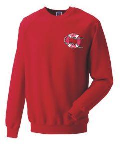 Red Sweatshirt - Embroidered with Marine Park First School Logo