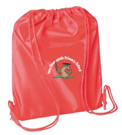 Red PE Bag - Embroidered With New Brancepeth Primary School Logo