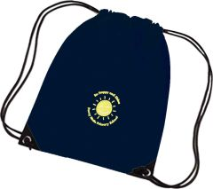 PE Bag Navy Blue - Embroidered with Percy Main Primary School logo