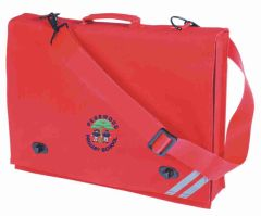 Red Document Case - Embroidered with Pegswood Primary School Logo