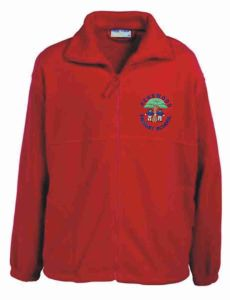 Red Fleece - Embroidered with Pegswood Primary School Logo