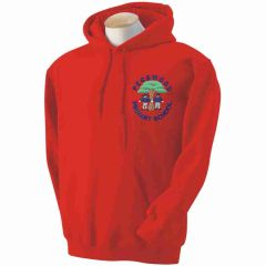 Red Hoody - Embroidered with Pegswood Primary School Logo
