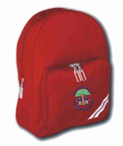 Red Infant Back Pack - Embroidered with Pegswood Primary School Logo