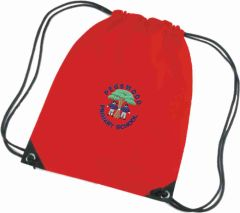 Red PE Bag - Embroidered with Pegswood Primary School Logo