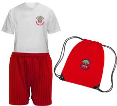 PE KIT (T-shirt, Shorts & PE Bag) - Embroidered with Pegswood First School Logo