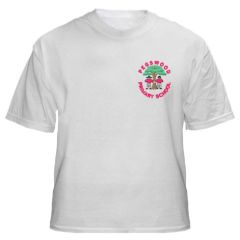 White PE T-shirt - Embroidered with Pegswood Primary School Logo