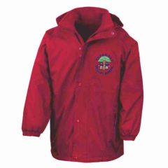 Red Stormproof Coat - Embroidered with Pegswood Primary School Logo
