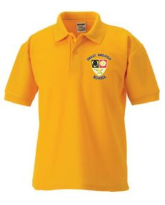Gold Polo - Embroidered with Great Smeaton Academy Primary School Logo