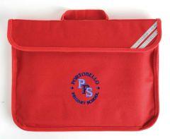 Red Infant Bookbag - Embroidered with Portobello Primary School Logo