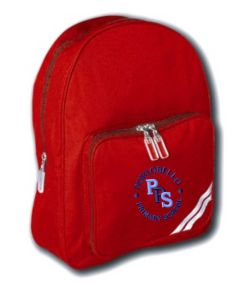 Red Infant Back Pack - Embroidered with Portobello Primary School Logo