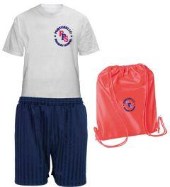 PE KIT (T-shirt, Shorts & PE Bag) - Embroidered with Portobello Primary School Logo