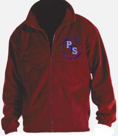 Red Polar Fleece - Embroidered with Portobello Primary School Logo