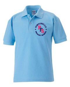 Sky Polo Shirt - Embroidered with Portobello Primary School Logo