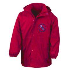 Red Stormproof Coat - Embroidered with Portobello Primary School Logo
