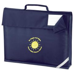 Navy Bookbag - Embroidered with Percy Main Primary School logo