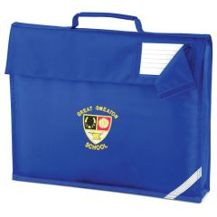 Royal Book Bag - Embroidered with Great Smeaton Academy Primary School Logo