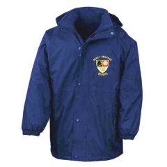 Royal Blue Stormproof Coat - Embroidered with Great Smeaton Academy Primary School Logo