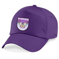 Purple Cap - Embroidered with Riverside Primary School logo