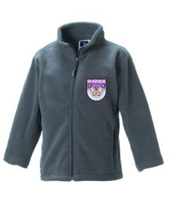 Grey Fleece - Embroidered with Riverside Primary School logo