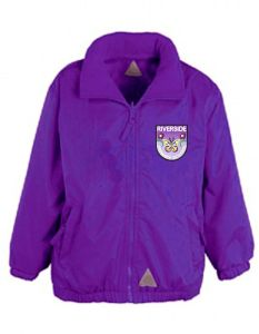 Purple Mistral Jacket - Embroidered with Riverside Primary School logo