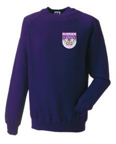 Purple Sweatshirt - Embroidered with Riverside Primary School logo