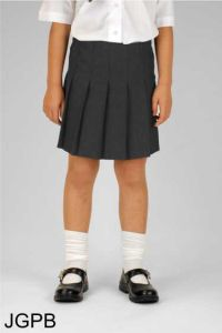 Grey Juniors Girls Pleated Skirt (JGPB)