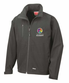 (STAFF) Black Result Softshell Jacket - Embroidered with Sacriston Academy (STAFF) Logo