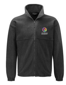 (STAFF) Black Fleece - Embroidered with Sacriston Academy (STAFF) Logo