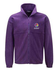 (STAFF) Purple Fleece - Embroidered with Sacriston Academy (STAFF) Logo