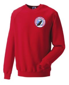 Red Sweatshirt - Embroidered with Seahouses Primary School logo