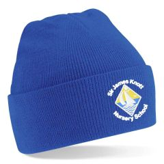 Royal Knitted Hat - Embroidered with Sir James Knott Nursery School logo