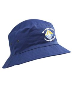 Royal Cotton Summer Hat - Embroidered with Sir James Knott Nursery School logo