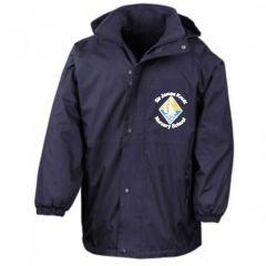 Navy Stormproof Coat - Embroidered with Sir James Knott Nursery School logo