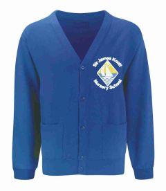 Royal Sweat Cardigan - Embroidered with Sir James Knott Nursery School logo