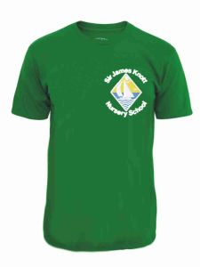 Emerald Green PE T-Shirt - Embroidered with Sir James Knott Nursery School logo