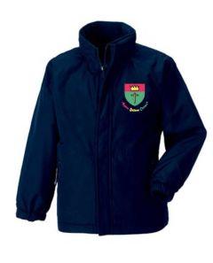 Navy Reversible Jacket - Embroidered with St Oswalds Primary School (Hebburn) logo