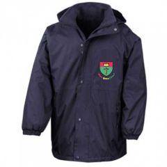 Navy Result Stormproof Coat - Embroidered with St Oswalds Primary School (Hebburn) logo