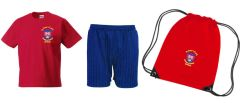 PE KIT (T-shirt, Shorts & PE Bag) - Embroidered with St Peter's CofE Primary School (Brotton) logo